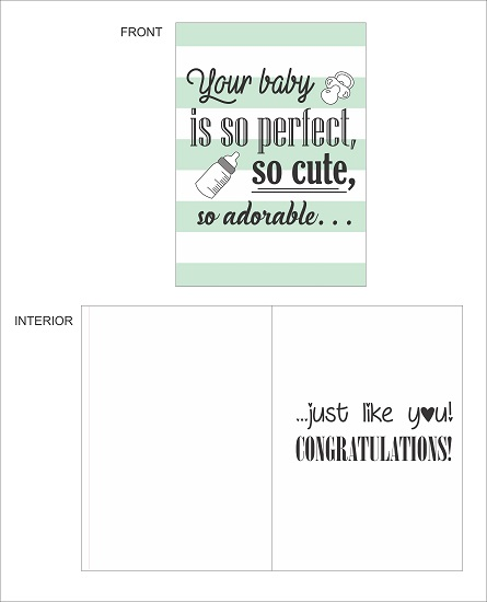 greeting card - Your Baby Is So Cute by LARA NASCIMENTO