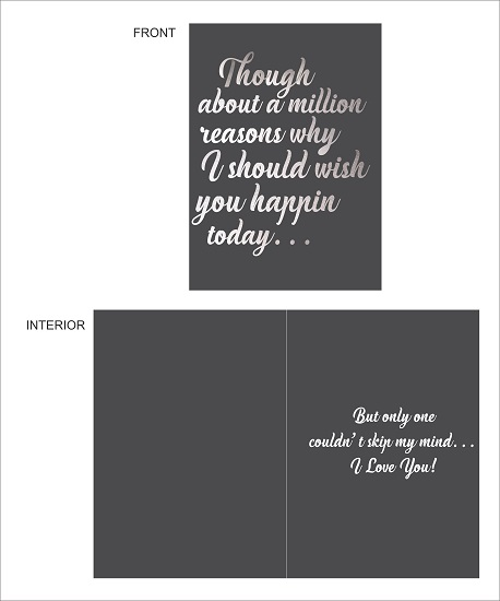 greeting card - Milion Reasons For Him by LARA NASCIMENTO