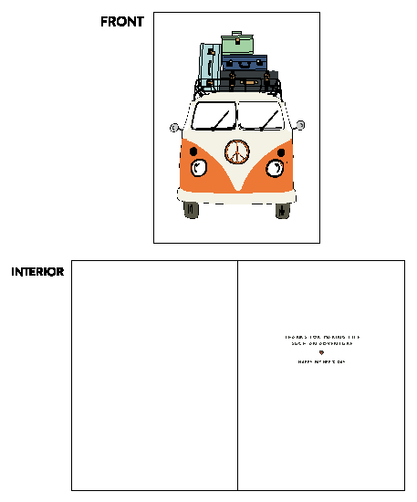 greeting card - Peace Van Father's Day Adventure by Alston Wise