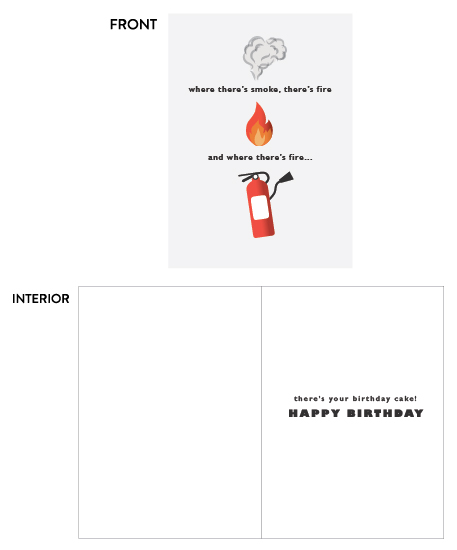 greeting cards - smoke fire cake by Sachi Barrong