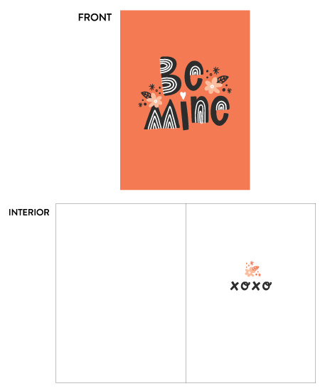 greeting card - Be Mine XOXO by Pace Creative Design Studio