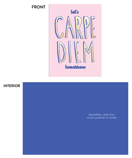 greeting card - Carpe Diem Tomorrow by Jenni Jacobus