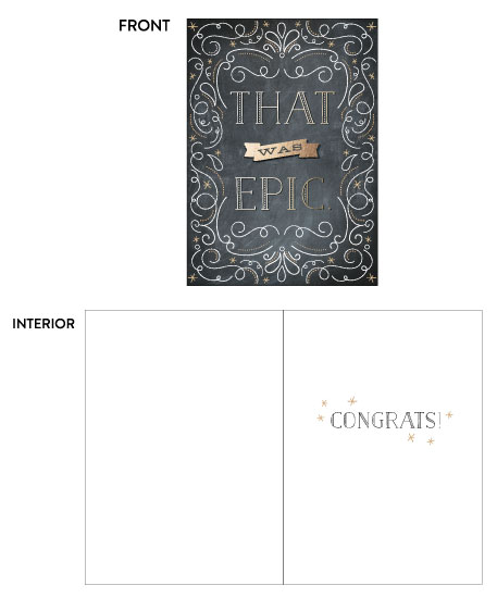 greeting card - Epic Congrats by Wendy Deubert