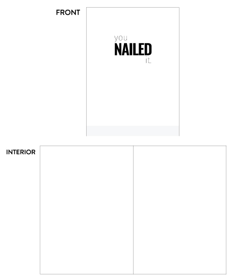 greeting card - Nailed It 1 by Lauren Nicole Co.