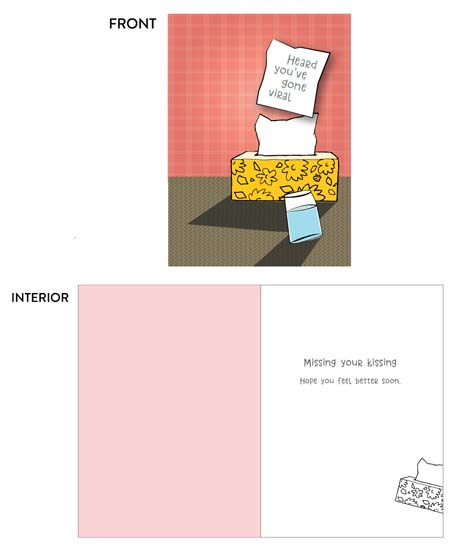 greeting card - Gone Viral by Lois DeCastro, AfternoonArts