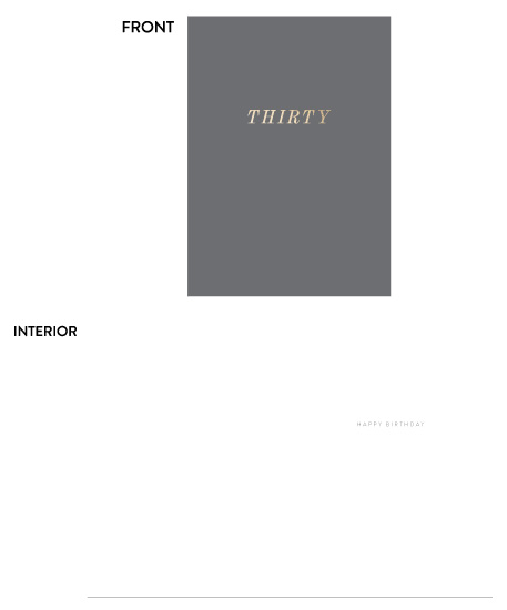 greeting card - thirty by Toast & Laurel