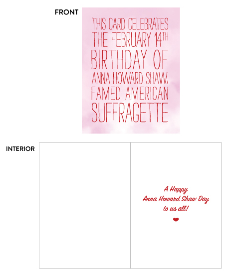 greeting card - Happy Anna Howard Shaw Day by Christy Sawyer