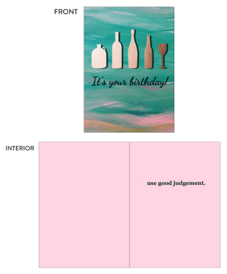 greeting card - Use Good Judgement by Anne Snyder