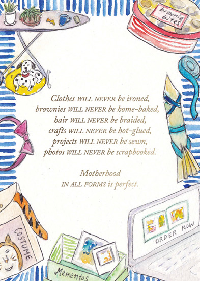 greeting card - Clothes Will Never Be Ironed by Laura Ann Trimble Elbogen