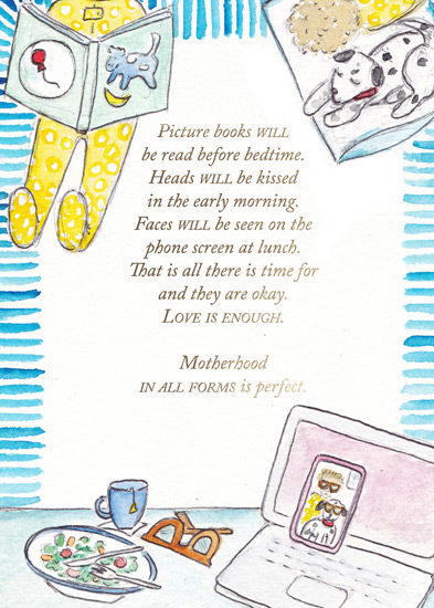 greeting card - Picture Books Will Be Read Before Bedtime by Laura Ann Trimble Elbogen