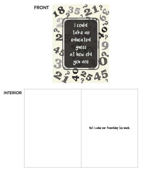 greeting card - Educated Guess by Lunar Thoughts