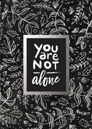 greeting cards - Never alone foil by Christy Sawyer