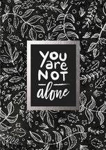 Never alone foil by Christy Sawyer