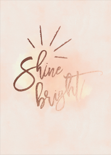 greeting card - Shine by Christy Sawyer