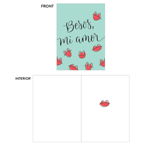 greeting card - besos para mi amor by Aspacia Kusulas
