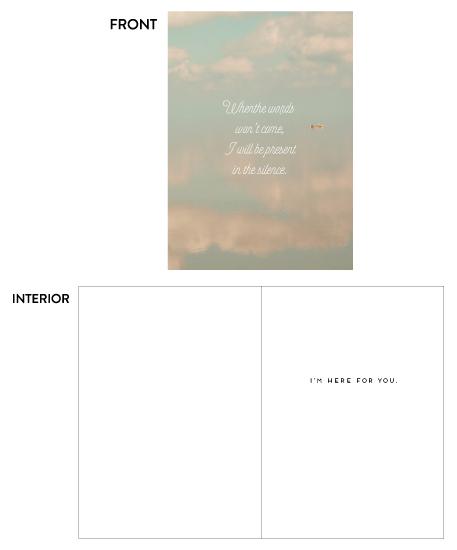 greeting card - Sky & Sea by Petra Kern
