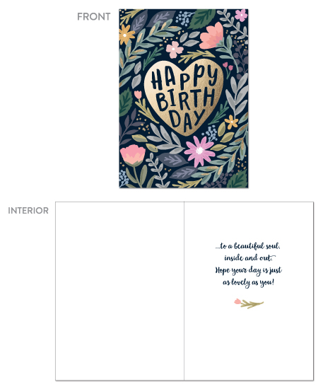 greeting cards - Heart and Floral by Hooray Creative