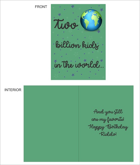 greeting card - Two Billion Kids by LARA NASCIMENTO