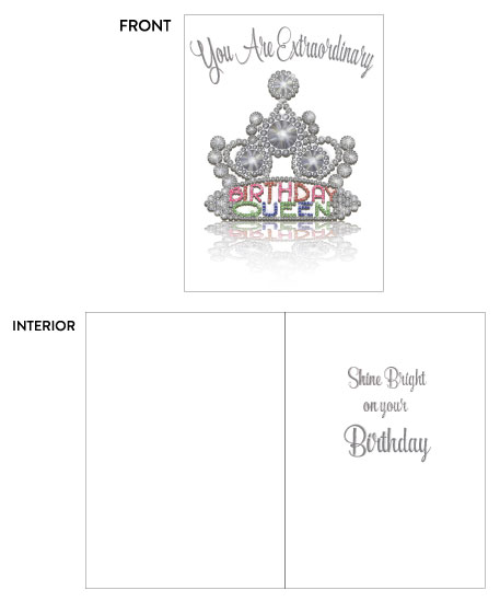 greeting card - Birthday Queen Shine Bright by Kate Pitner