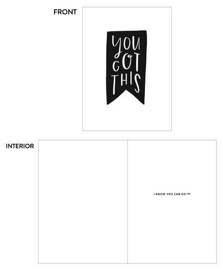 greeting card - You Got This by Olivia Herrick Design