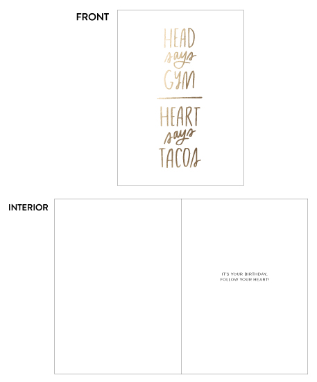greeting card - Birthday Tacos by Olivia Herrick Design