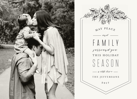 holiday photo cards - Peace and Family by Chris Griffith