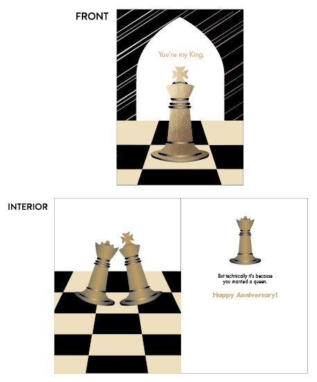 greeting card - Chess King by MoMint