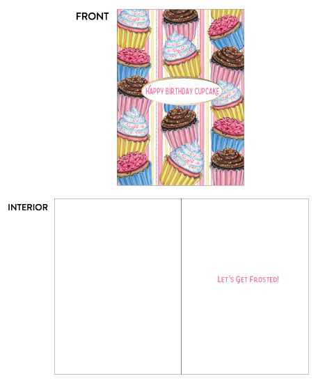 greeting card - Birthday Cupcakes by Kate Pitner