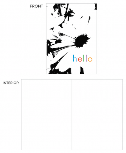 greeting card - hello daisies by lulablu