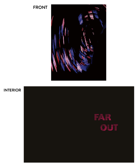 greeting card - Far Out by Aure
