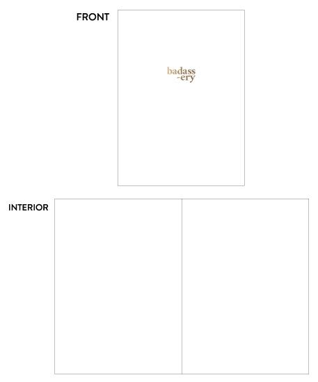 greeting card - Gold Badassery by Lauren Nicole Co.