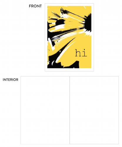 greeting card - daisy hi by lulablu