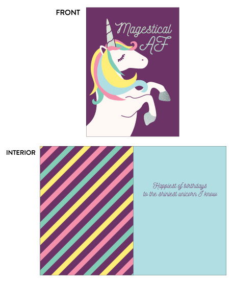 greeting card - Magestical AF by Champagne Paper Co.
