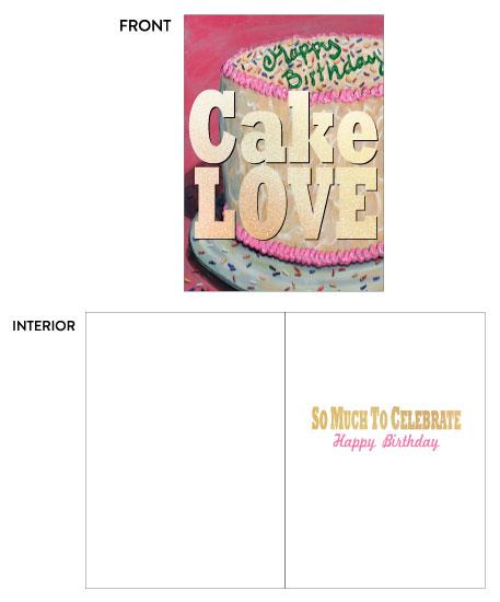 greeting card - Happy Birthday Cake Love by Kate Pitner
