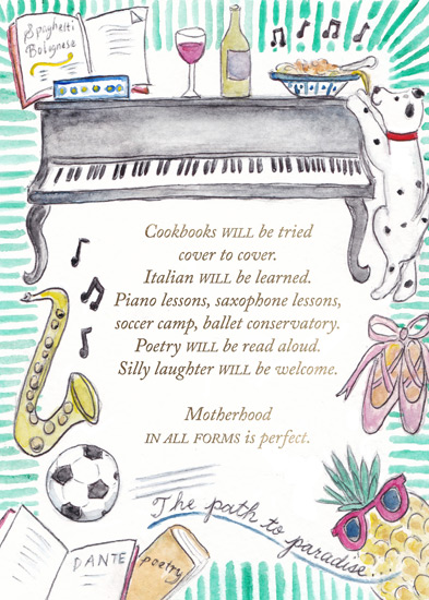 greeting card - Cookbooks Will Be Tried Cover to Cover by Laura Ann Trimble Elbogen