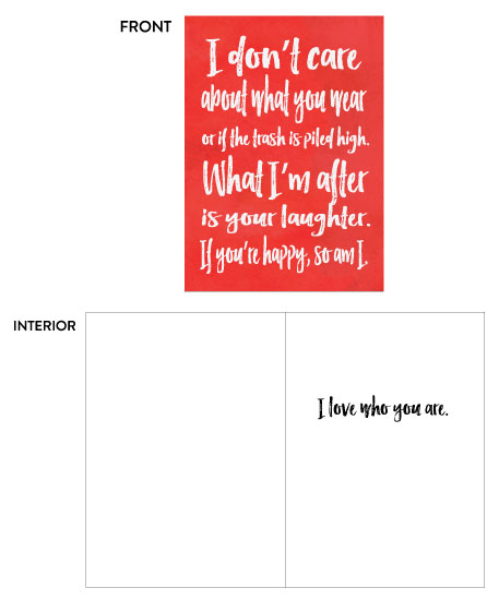greeting card - Be happy by Moxie