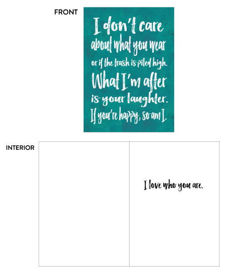 greeting cards - Just Be Happy by Moxie