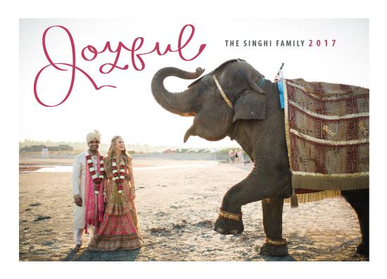 holiday photo cards - Joyful Elephant by Tresa Meyer-Clark