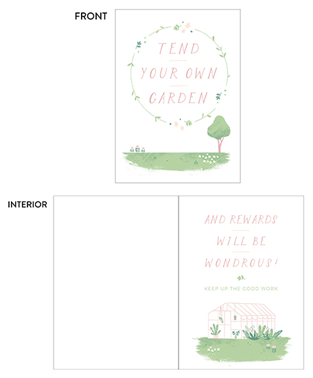 greeting card - Tend your own garden by Silvia Rossana Garavaglia