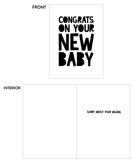 greeting card - New Baby by Champagne Paper Co.