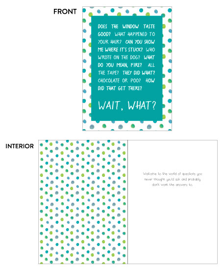 greeting card - Questions by LemonBirch Design