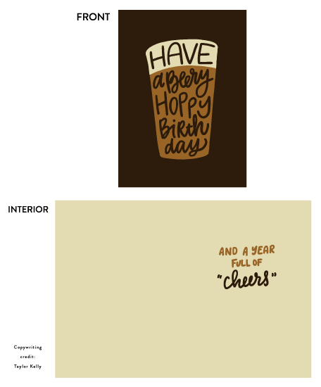 greeting card - Beery Hoppy by Up Up Creative
