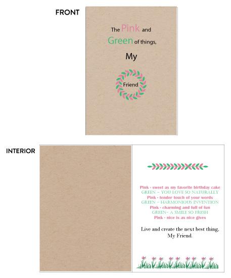 greeting card - Pink and Green of things by Joyfuldesignsklmr