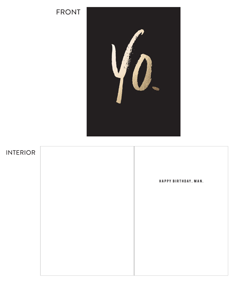 greeting card - yo. by lena barakat