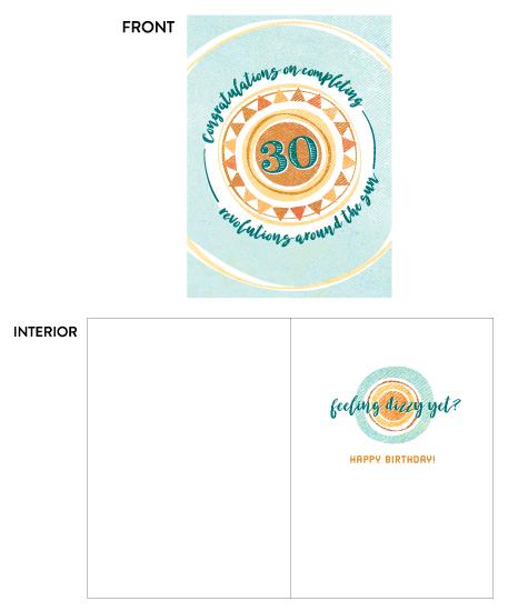 greeting card - Thirty Spins by Pera Press