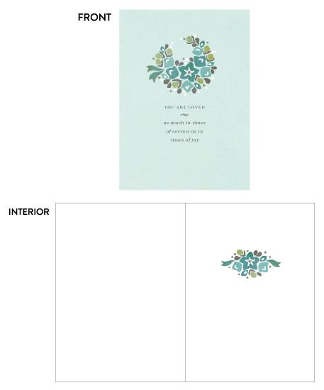 greeting card - Sympathy Wreath by Pera Press
