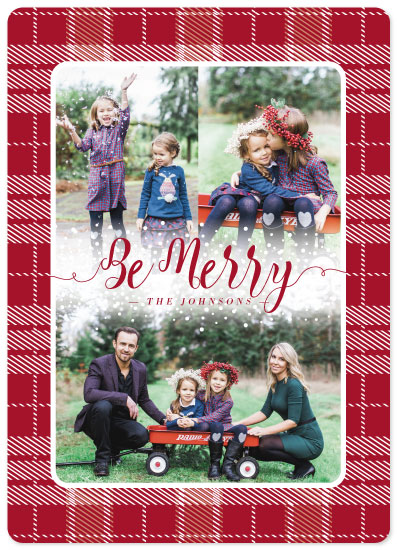 holiday photo cards - Holiday Plaid by Mabe Design Co.