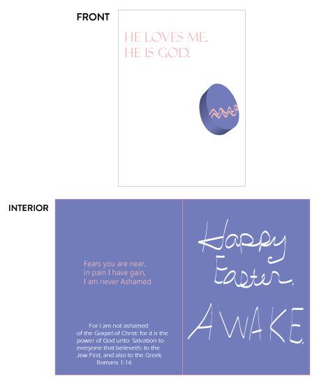 greeting card - He Loves me Easter Awake by Joyfuldesignsklmr