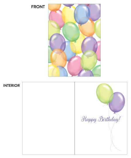greeting card - Birthday Balloon Toss by Kate Pitner