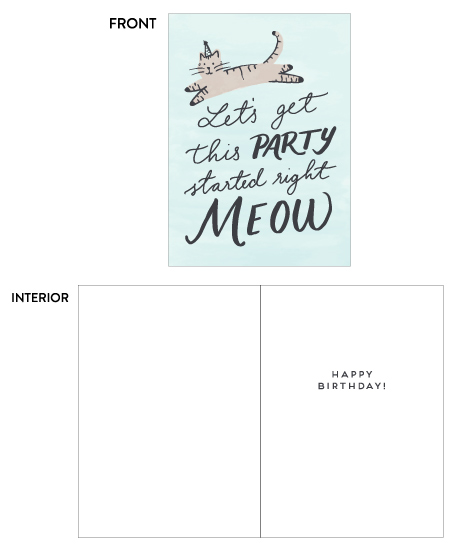 greeting card - Party Meow by Everett Paper Goods